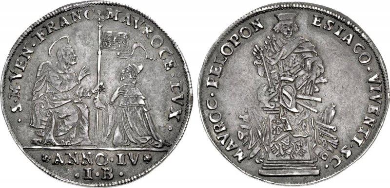 Венецианская серебряная монета «Озелла»
