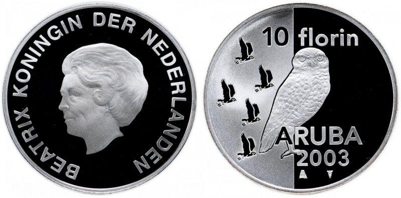 Десять арубанских флоринов (2003)