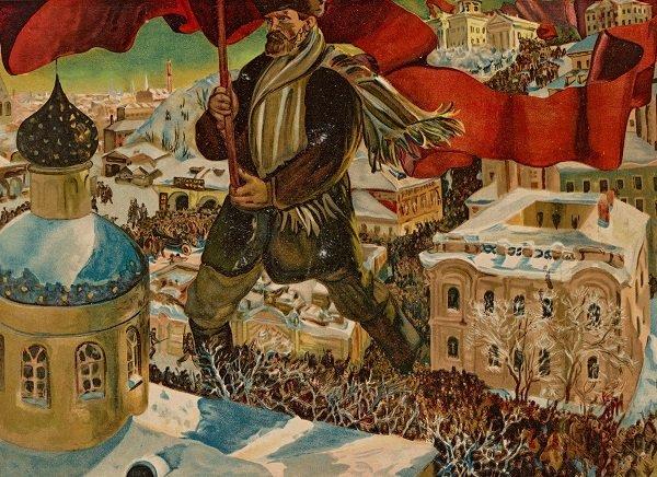 Б.М. Кустодиев «Большевик». 1919 год