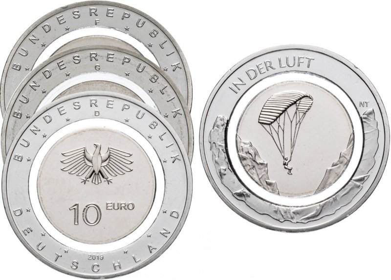 10 евро   «В воздухе» (D, F и G)