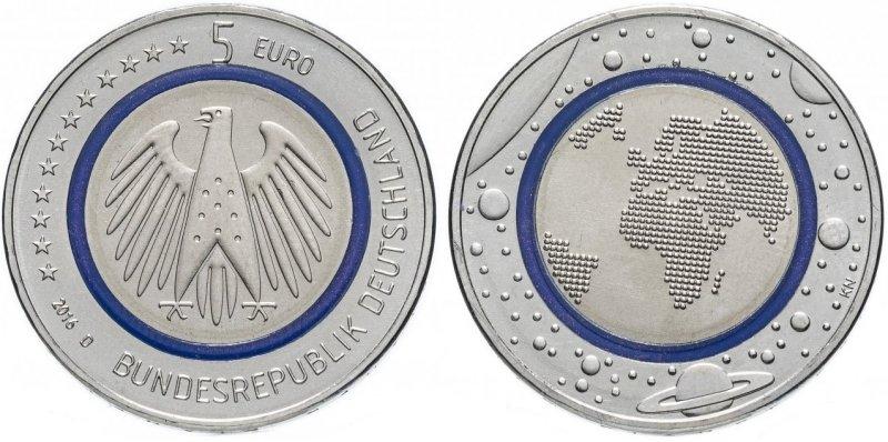 5 евро «Голубая планета Земля»