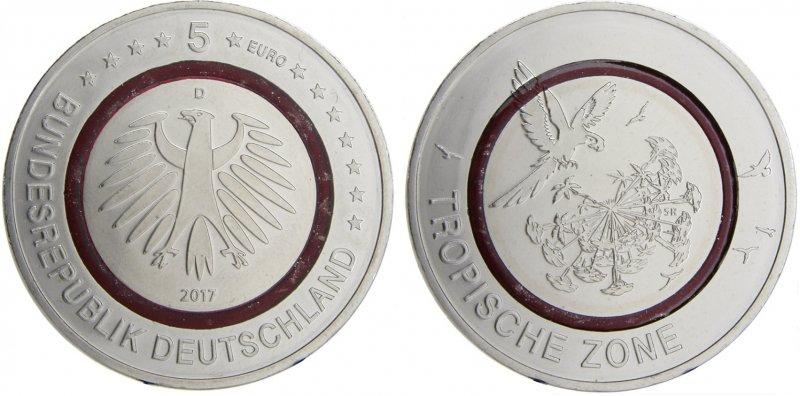 5 евро «Тропическая зона»