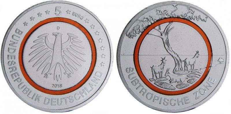 5 евро «Субтропическая зона»