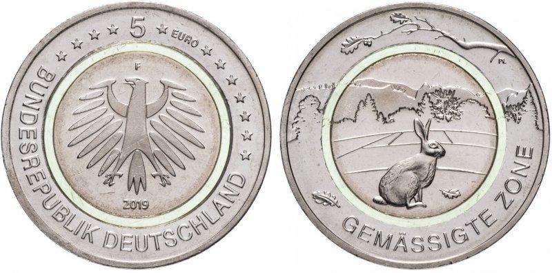 5 евро   «Зона умеренного климата» (F)