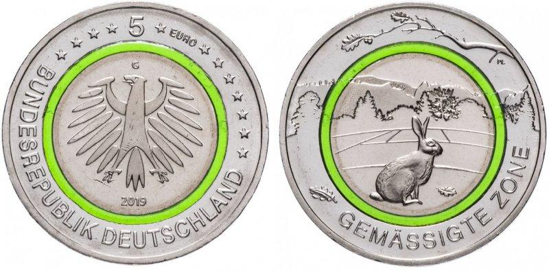5 евро   «Зона умеренного климата» (G)