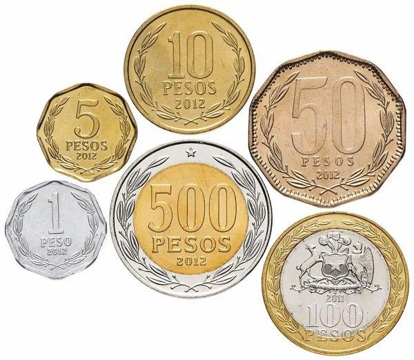 Циркуляционные монеты Чили, оборотная сторона
