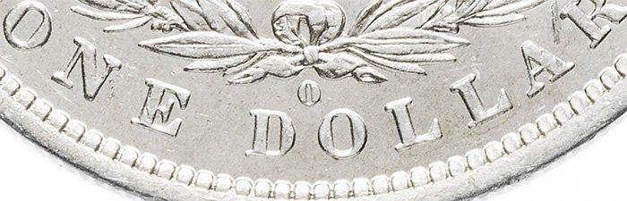 Литера «О» - знак Монетного двора Нового Орлеана