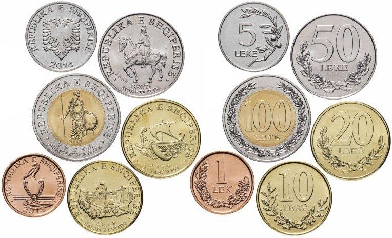 Монеты регулярного обращения современной Албании