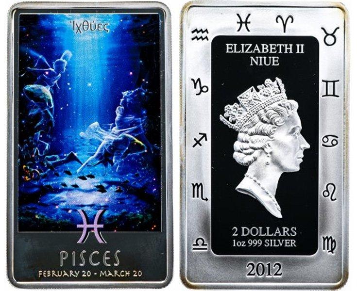 Монета Ниуэ, серебро