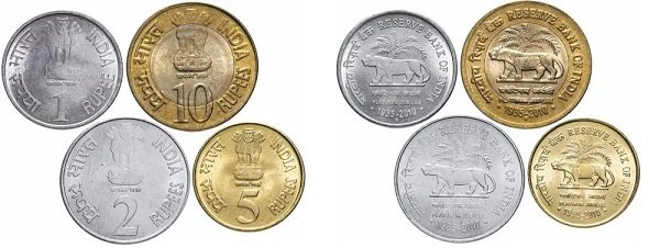 Индия. Рупии 2010 года из серии «Тигры»