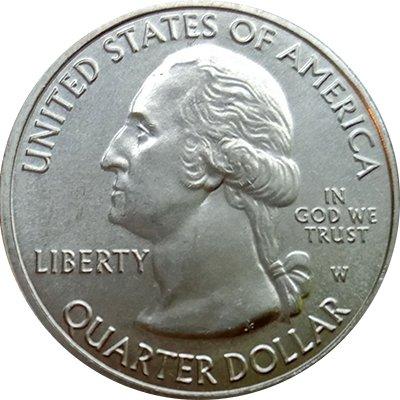 Аверс 25 центов США (чеканка Вест-Пойнта)