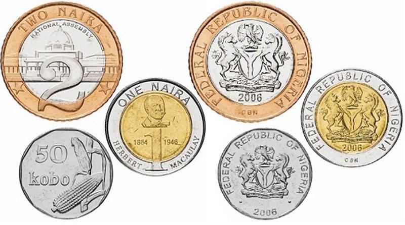 Циркуляционные монеты Нигерии
