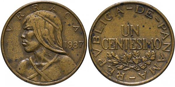 1 сентесимо 1937 г.