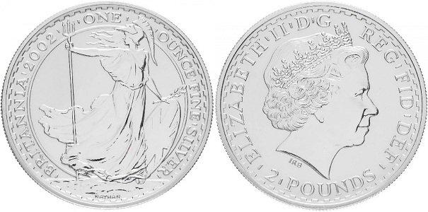 Британская инвестиционная серебряная монета