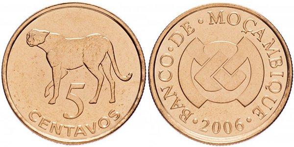 Мозамбик, 5 сентаво 2006 года «Леопард»