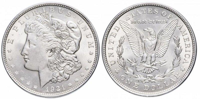 Доллар 1921 года