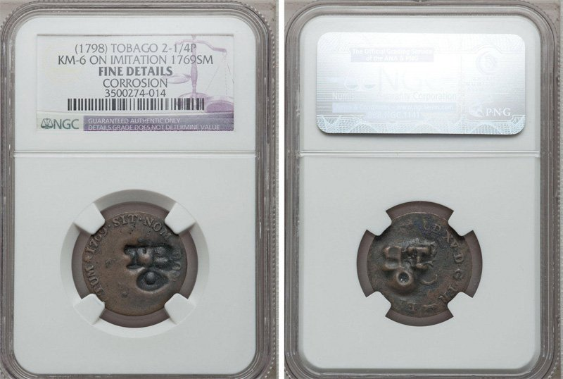 Пример монеты с выявленной коррозией