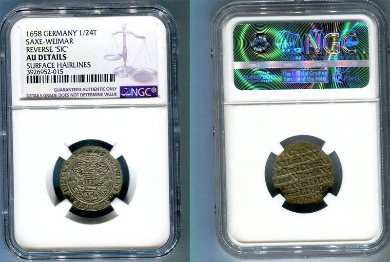 Пример монеты с выявленными царапинами