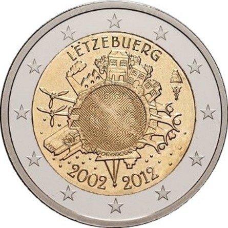 Люксембург. На монете с помощью гравировки скрыт портрет герцога