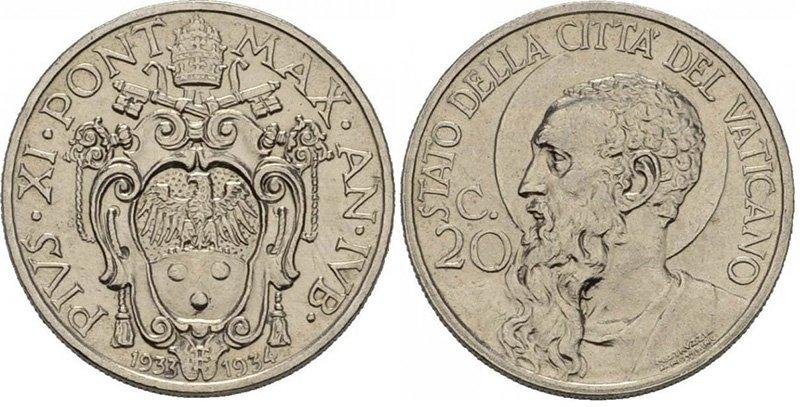 20 чентезимо 1933 года