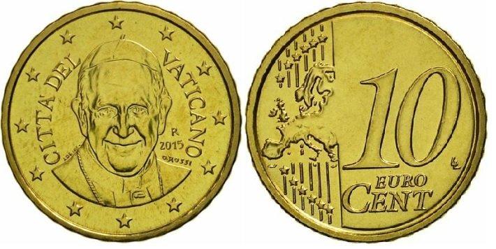 10 евроцентов 2015 года