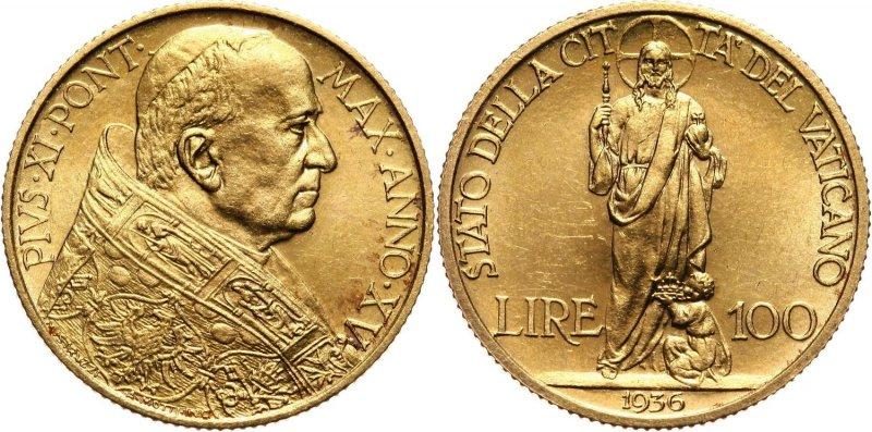 100 лир 1936 года