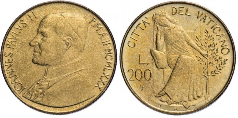 200 лир 1980 года