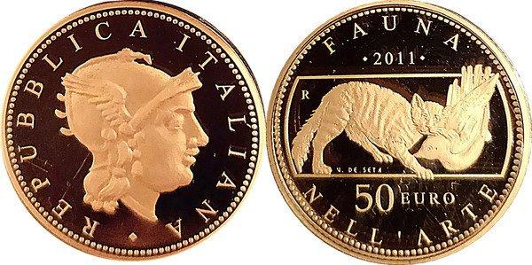 Золотая монета Италии