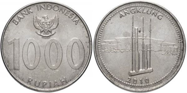 1000 рупий, Индонезия, 2010 год