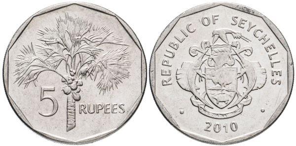 5 рупий, Сейшельские острова, 2010 год
