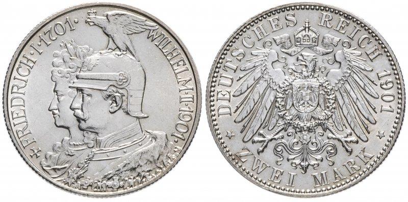 Две марки «200 лет Прусскому королевству» (1901)