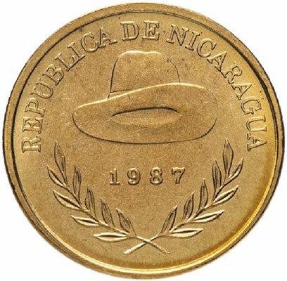 Шляпа на монете 50 сентаво 1987 года