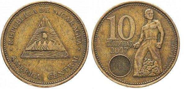 10 кордоб 2007 год. Никарагуа