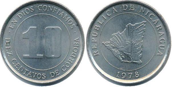 10 сентаво. 1978 год. Никарагуа. Алюминий
