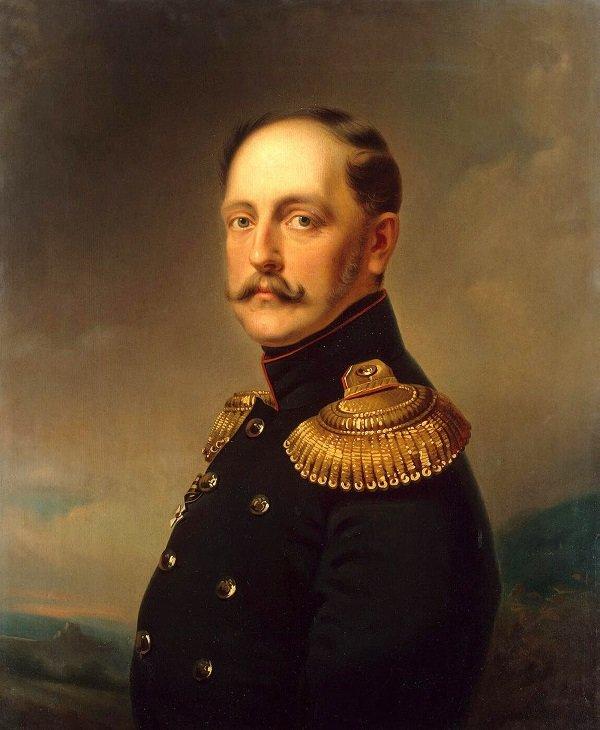 Е.И. Ботман. Портрет императора Николая I. 1850-е годы