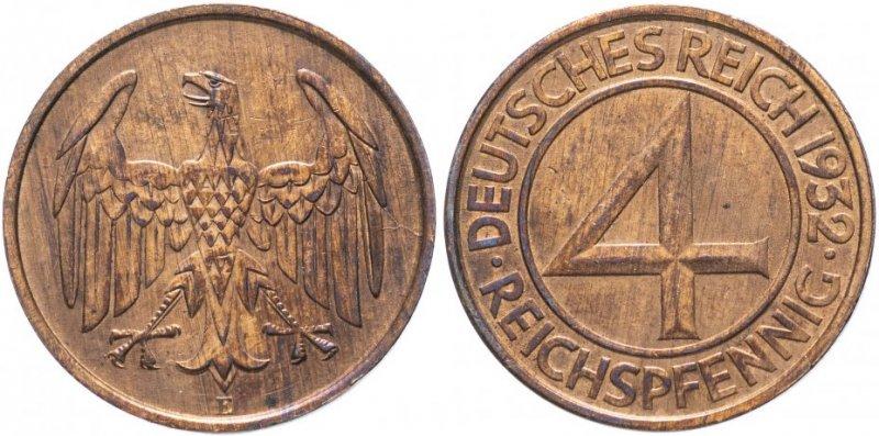 4 рейсхпфеннига 1932 года