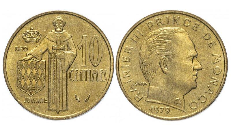 10 сантимов 1979 года