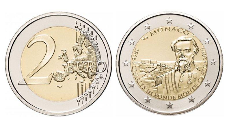 2 евро 2016 года «150 лет основания Монте-Карло»