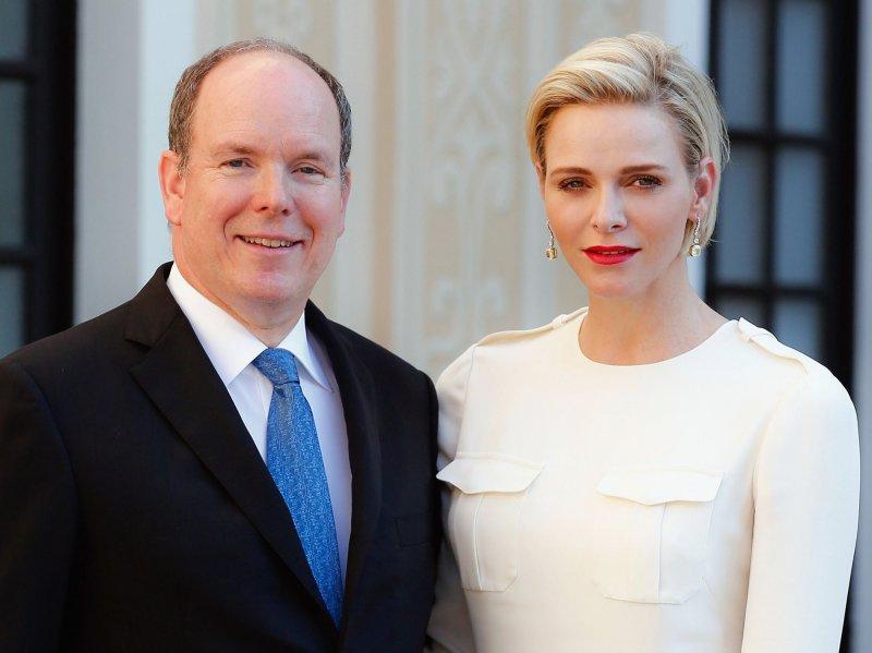Князь Монако Альберт II c супругой Шарлин