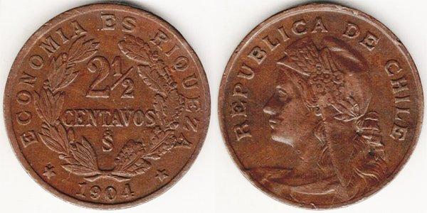 2½ сентаво 1904 г.