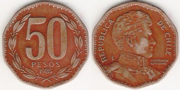 50 песо 1985 г.