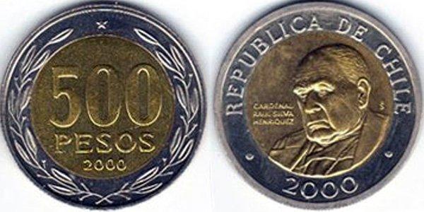 500 песо 2000 г.