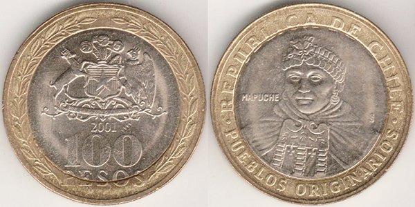 100 песо 2001 г.