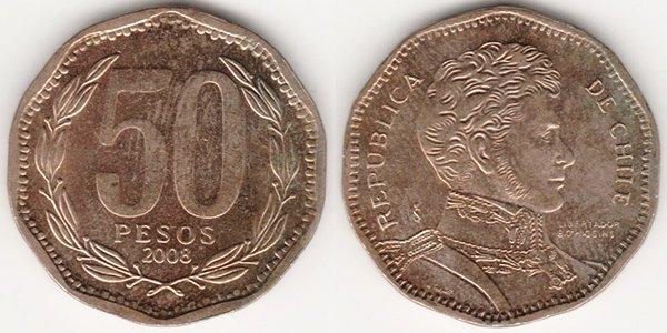 50 песо 2008 г.