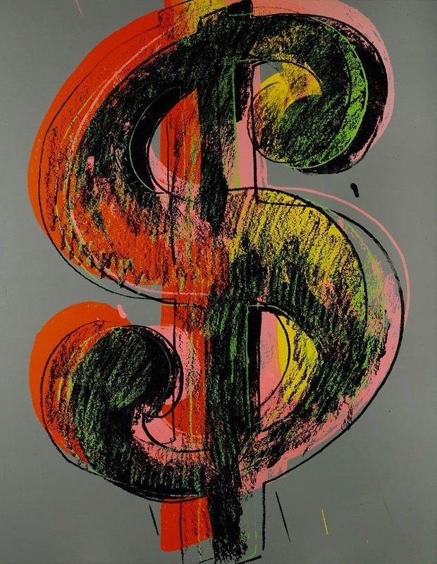 Картина Уорхола «Знак доллара»