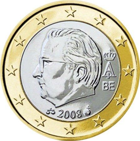 1 евро Бельгии 2008 года