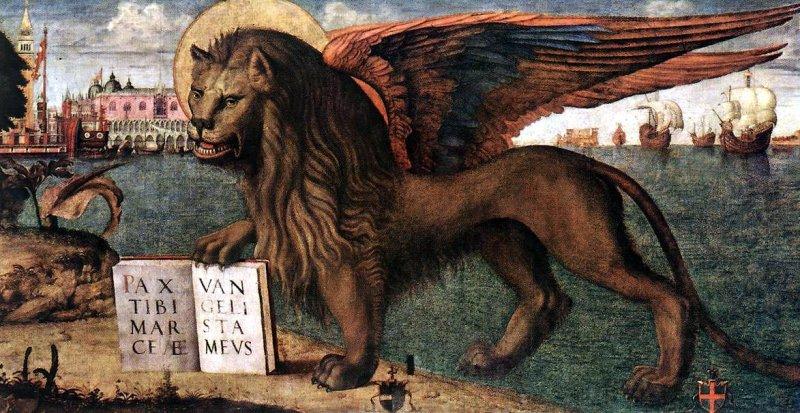Лев святого Марка. Картина Витторе Карпаччо. Палаццо дожей