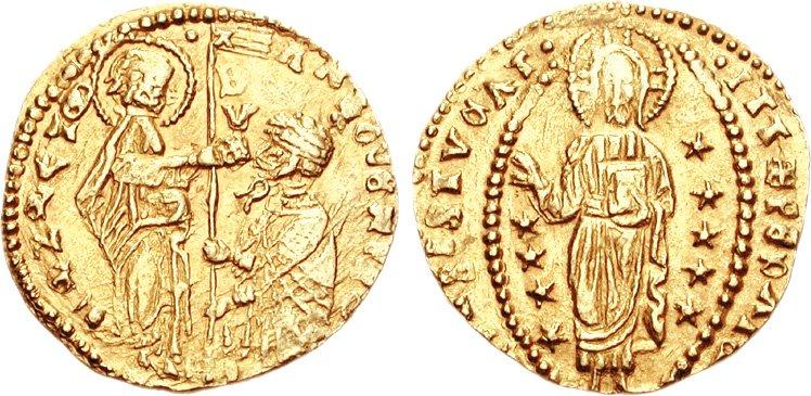 Цехин. Венецианская республика. дож Антонио Веньер, 1382 год