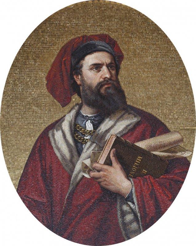 Марко Поло. Мозаика. Дворец Дориа-Турси, Генуя
