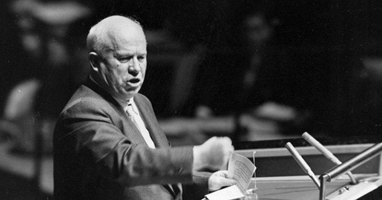 Н.С.Хрущёв на заседании Ген.Ассамблеи ООН, 1960 г.